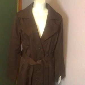 NWT Ambition Brown  Trench Coat